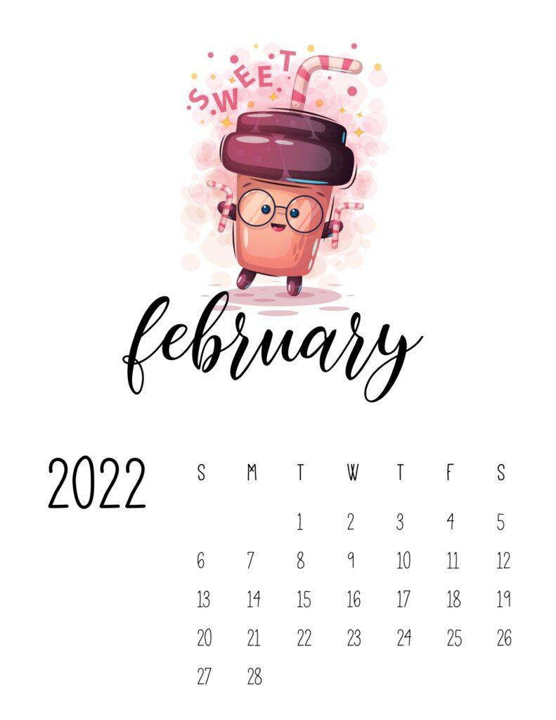 funny calendar 2022 - february