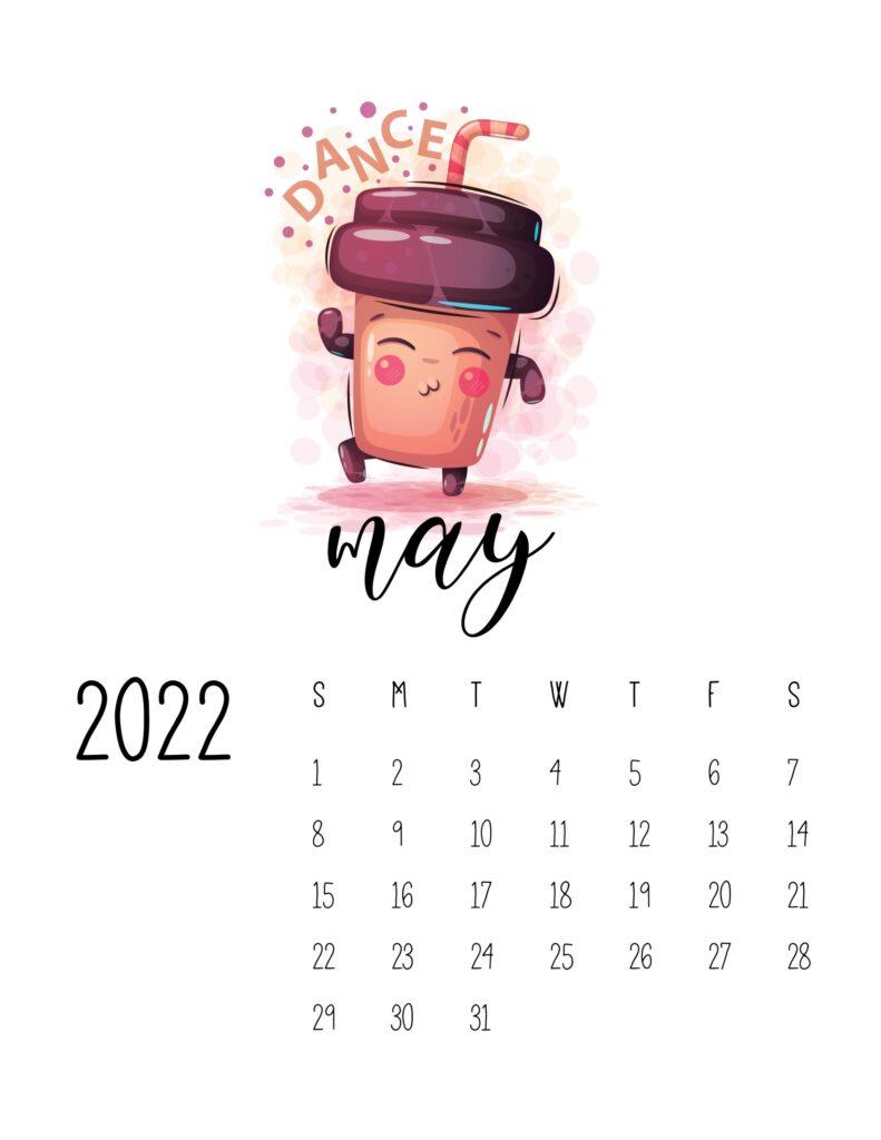 funny calendar 2022 - may