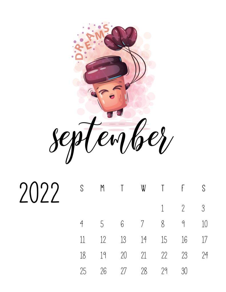 funny calendar 2022 - september