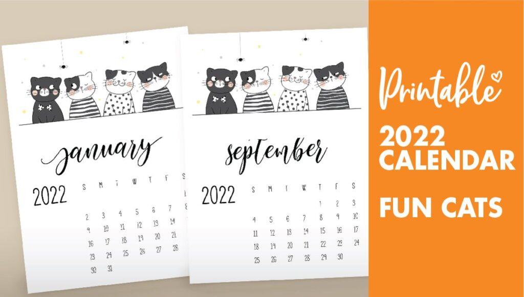 funny cat calendar 2022