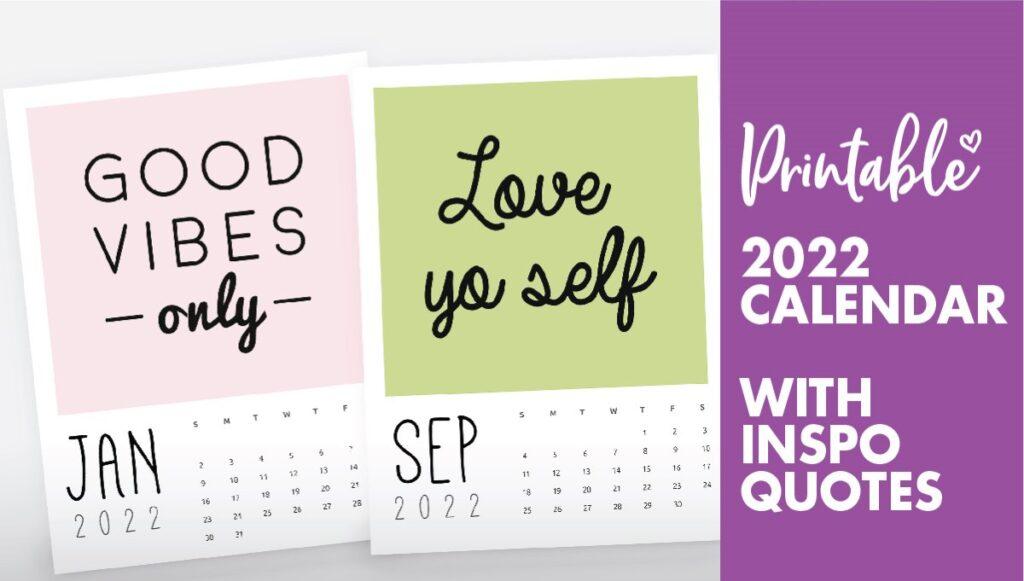 inspirational quotes calendar 2022