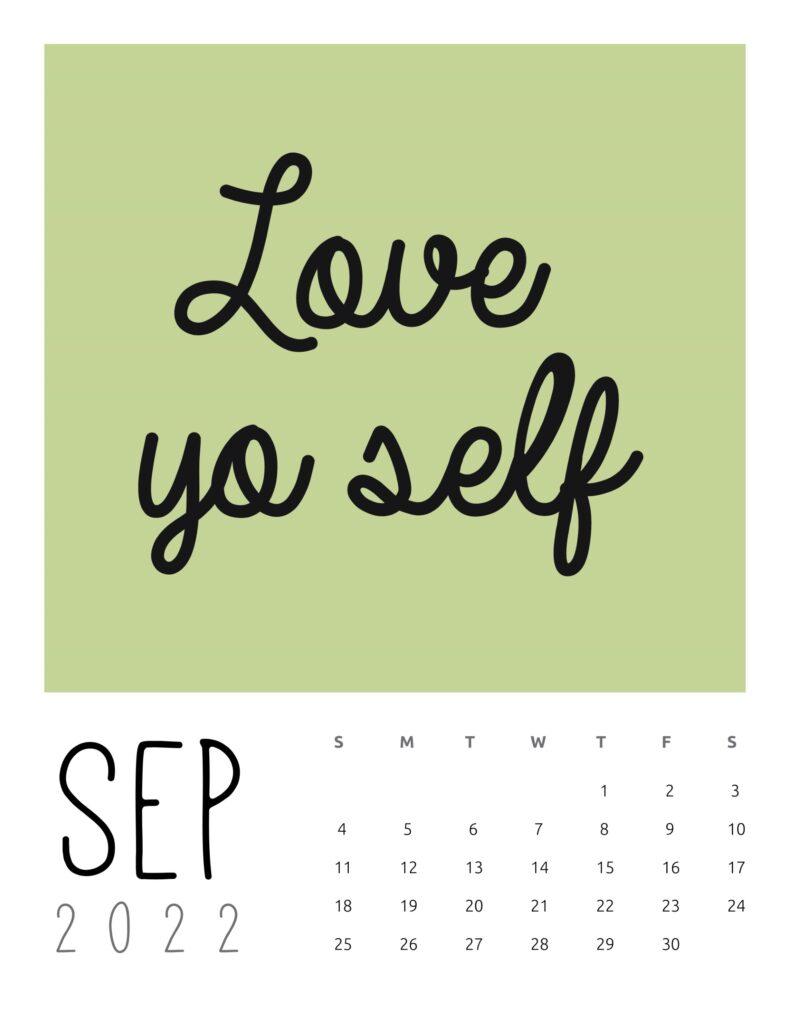inspirational quotes calendar September 2022