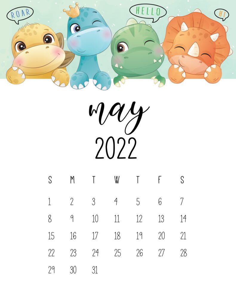 kids calendar 2022 - may
