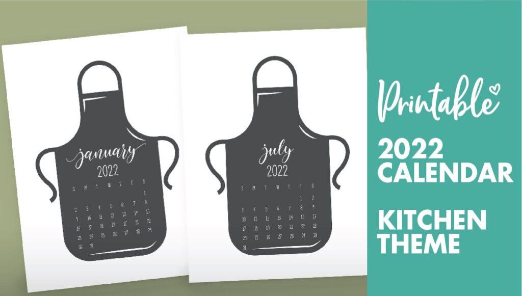kitchen calendar 2022