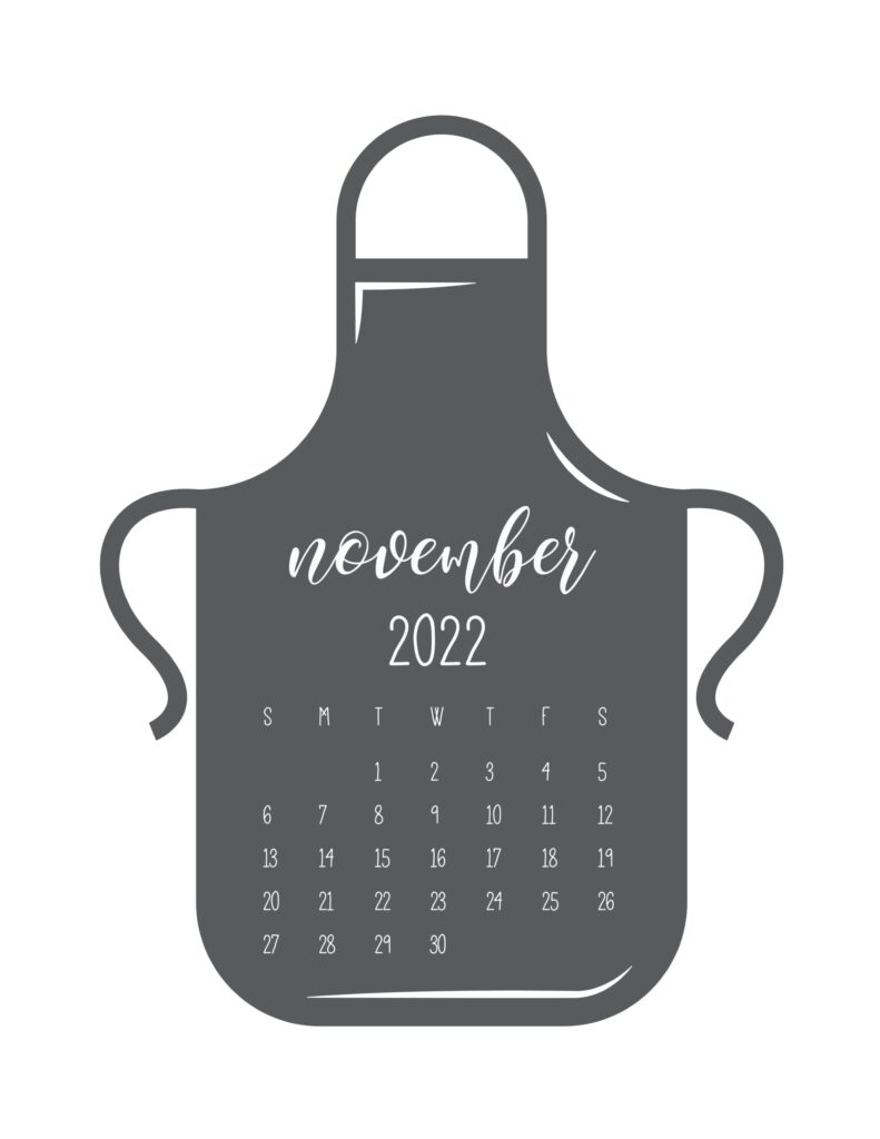 kitchen calendar 2022 - november