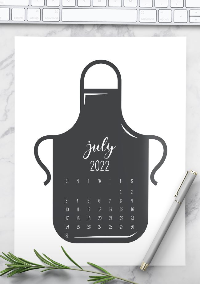 kitchen calendar 2022 printable