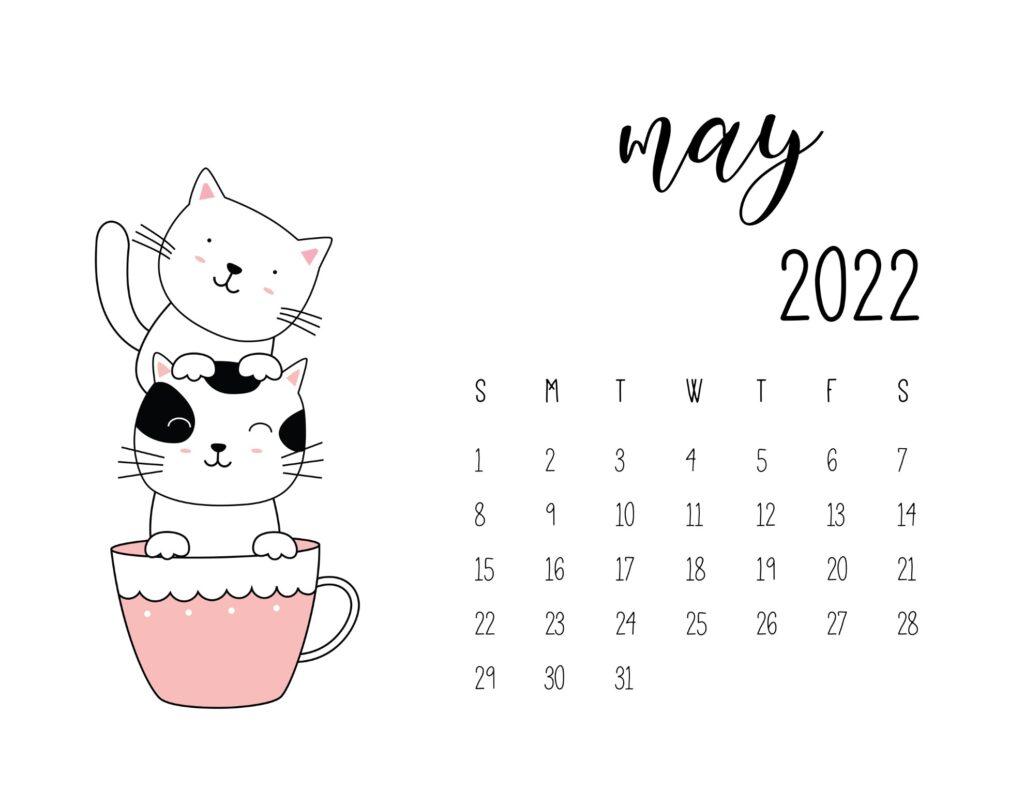 kitten calendar 2022 - may