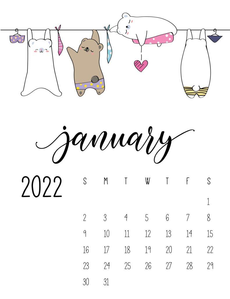 laundry room wall art calendar - january