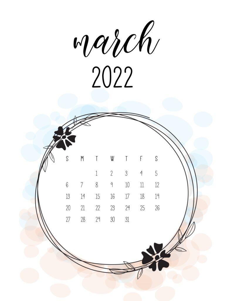 love calendar 2022 - march