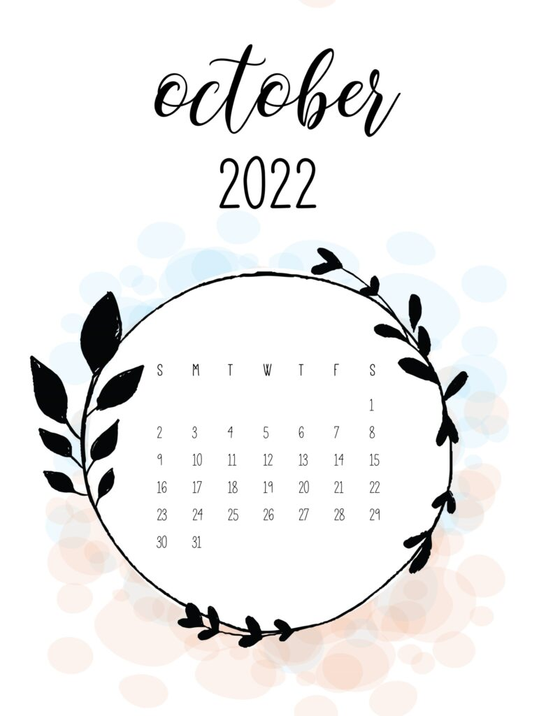 love calendar 2022 - October