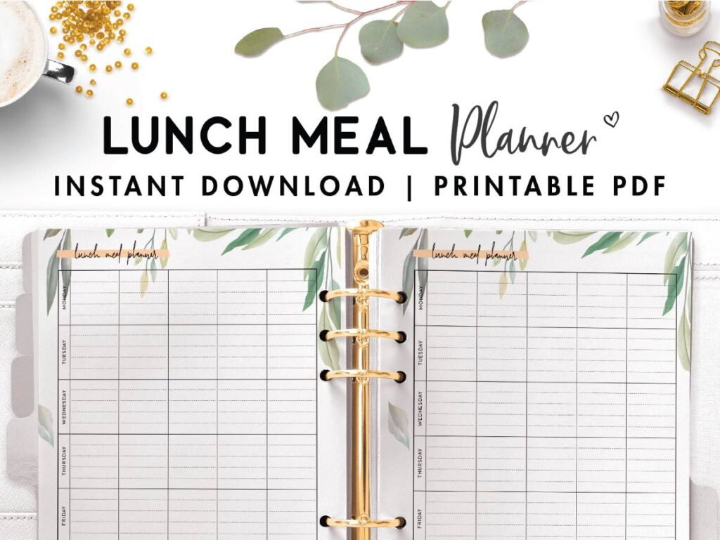 lunch meal planner
