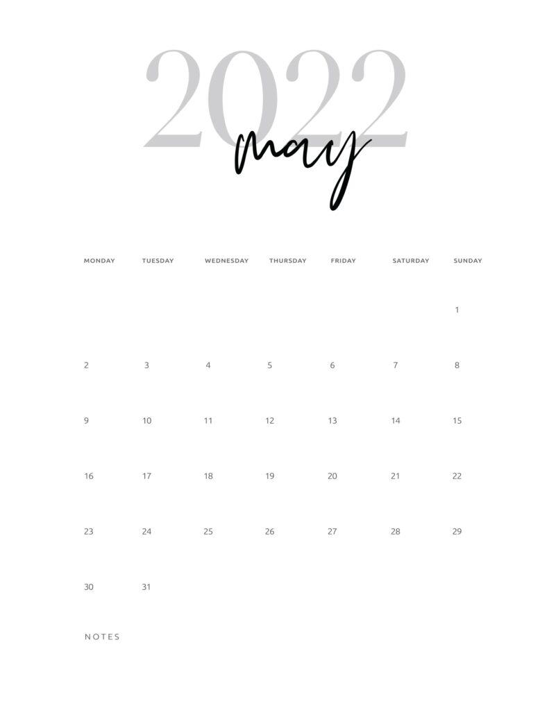 may 2022 calendar
