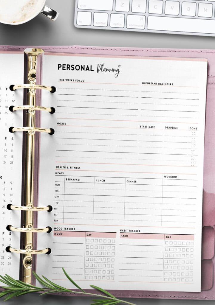 printable personal growth plan template