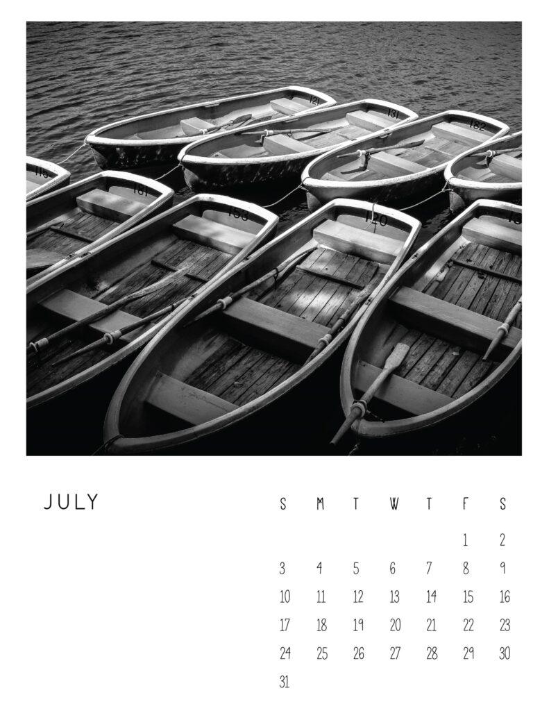 photo calendar 2022 - july
