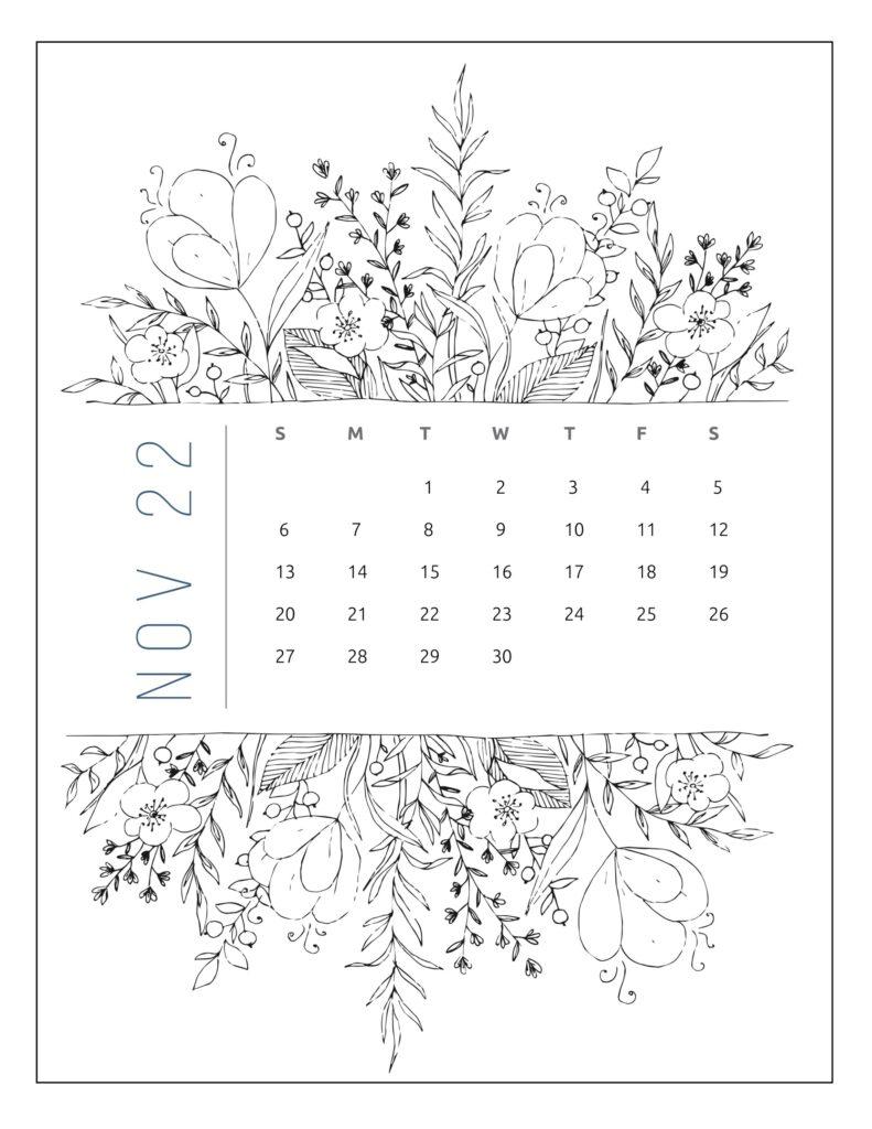 printable 2022 calendar by month - November