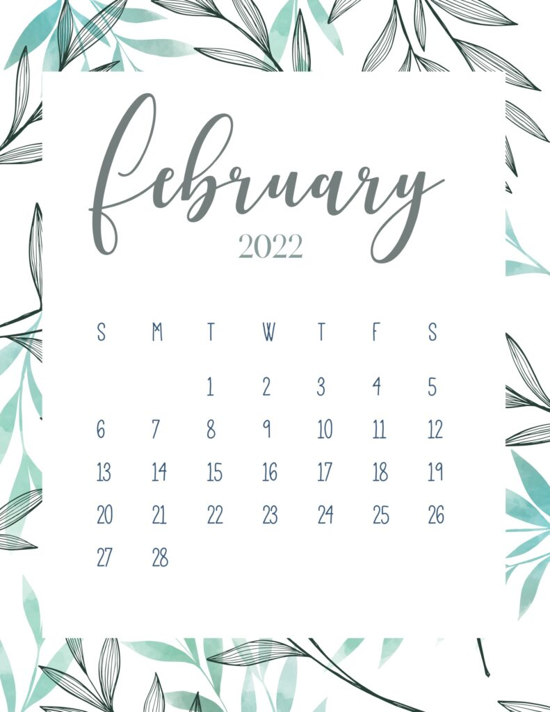 printable 2022 calendar - february