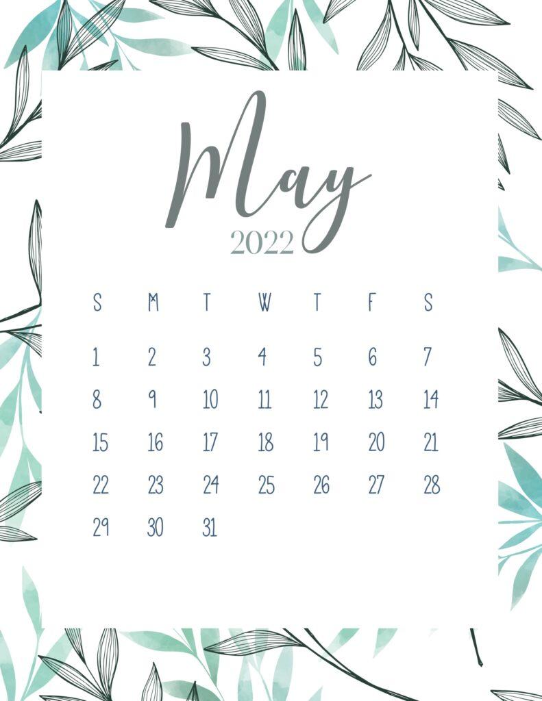 printable 2022 calendar - may