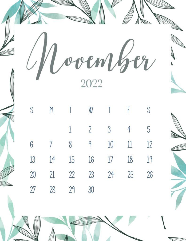 printable 2022 calendar - November