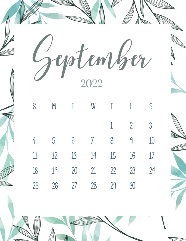 printable 2022 calendar - September