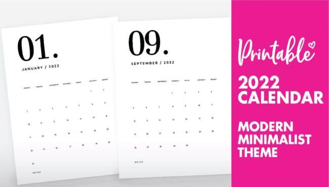 printable calendar 2022 - calendar 2022