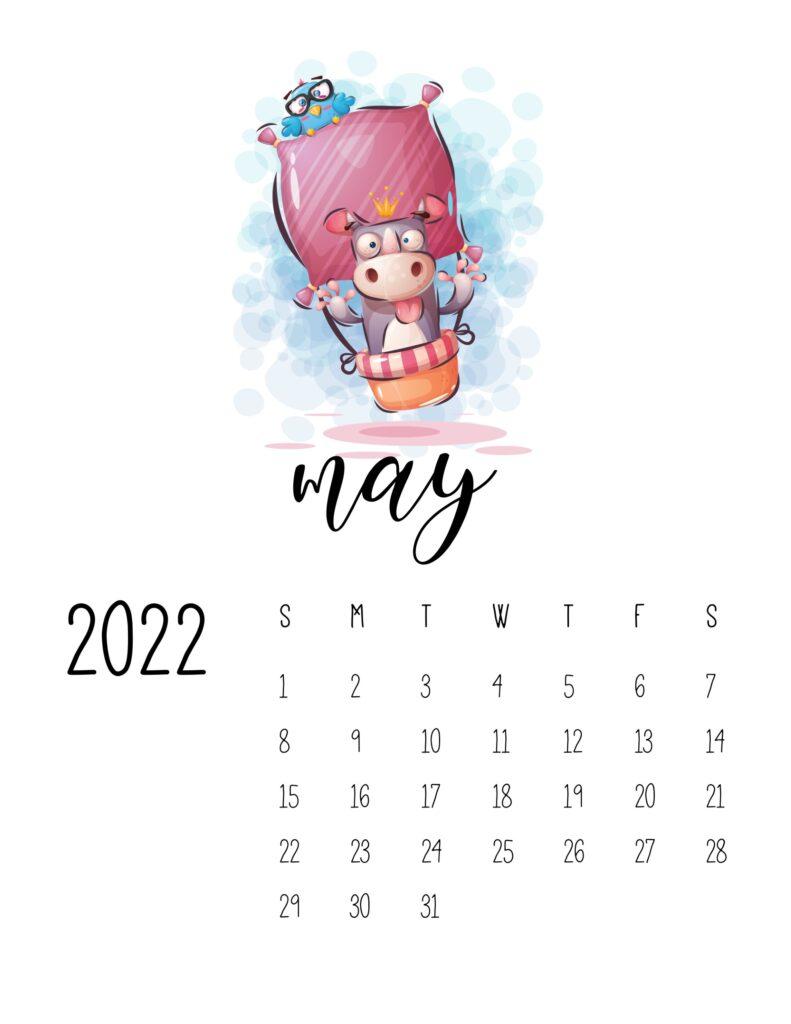 printable calendar for kids - may