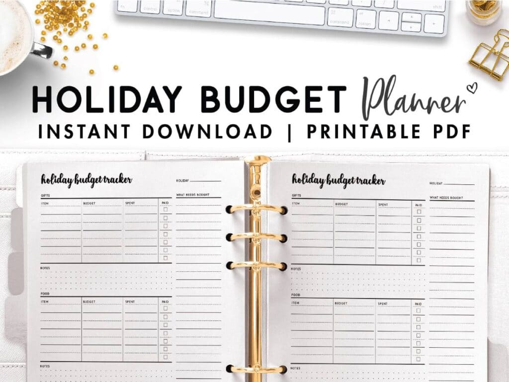 holiday budget tracker