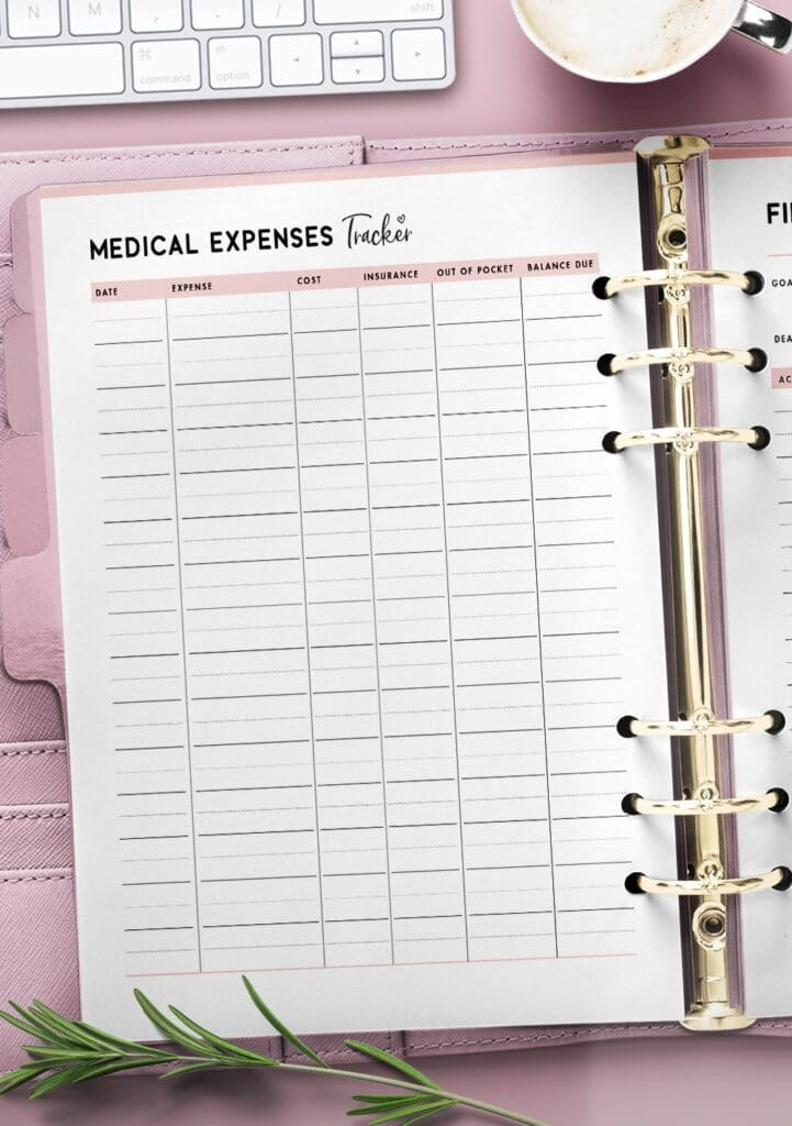 printable medical expenses tracker