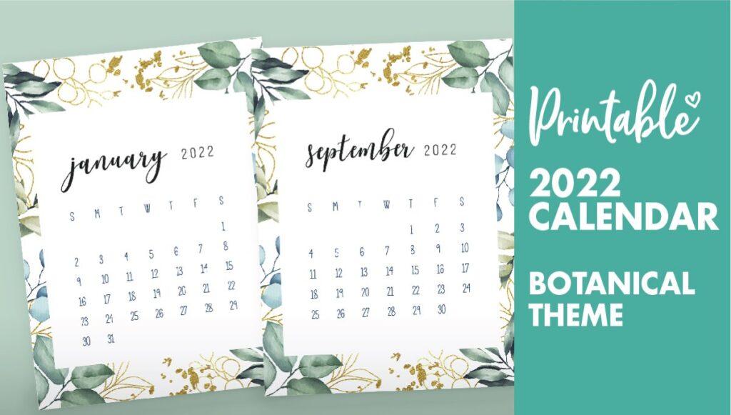 printable monthly calendar 2022