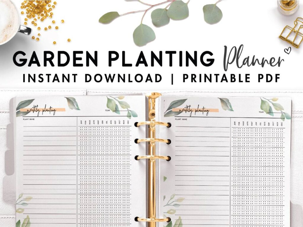 printable monthly planting template