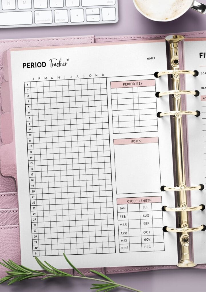 printable period tracker