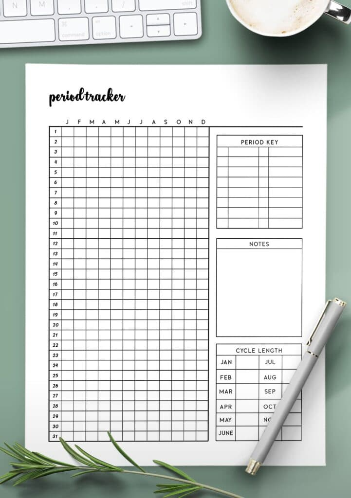 period tracker template