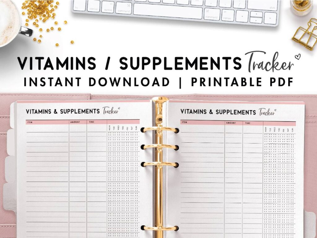 vitamins and supplements tracker