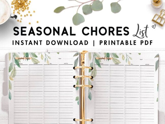 seasonal chores list