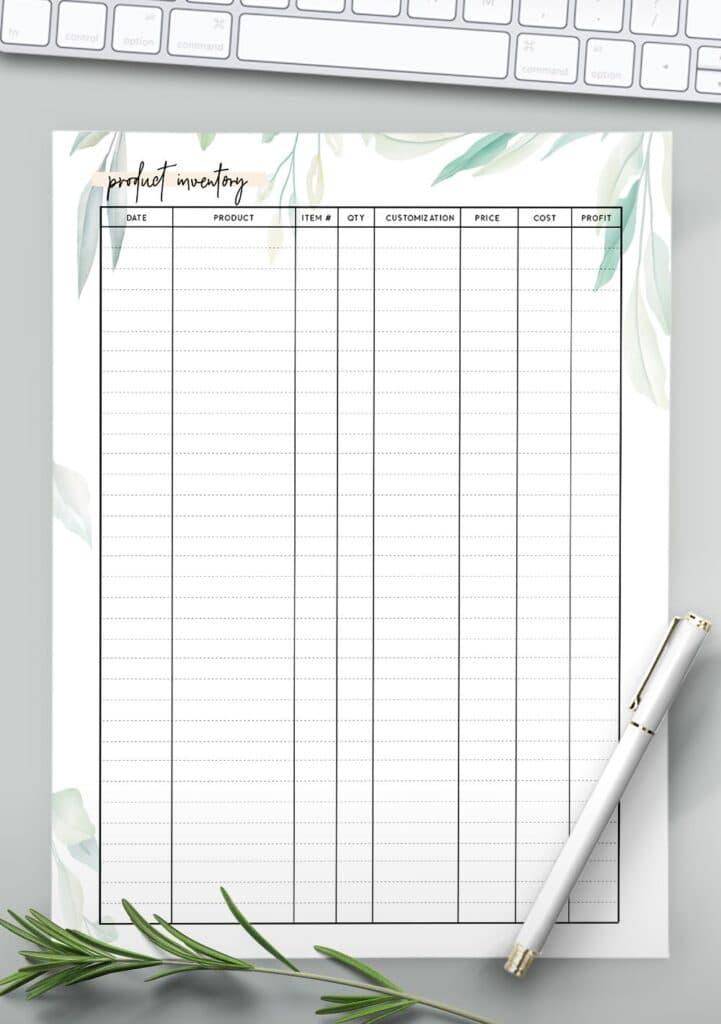 stock taking sheet template
