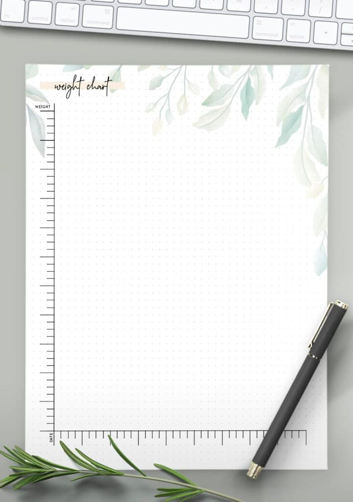 weight chart template