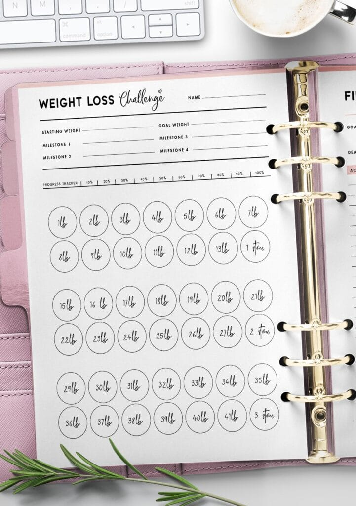 weight loss template free printable