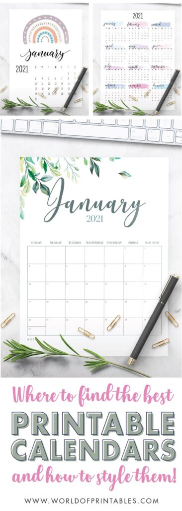 where to find printable calendar templates and how to style them
