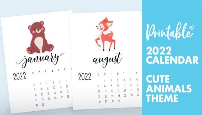 wildlife calendar 2022