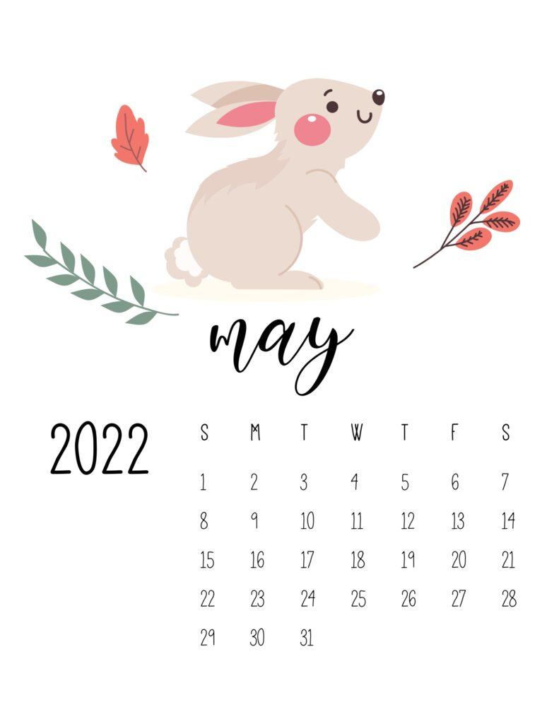 wildlife calendar 2022 - may