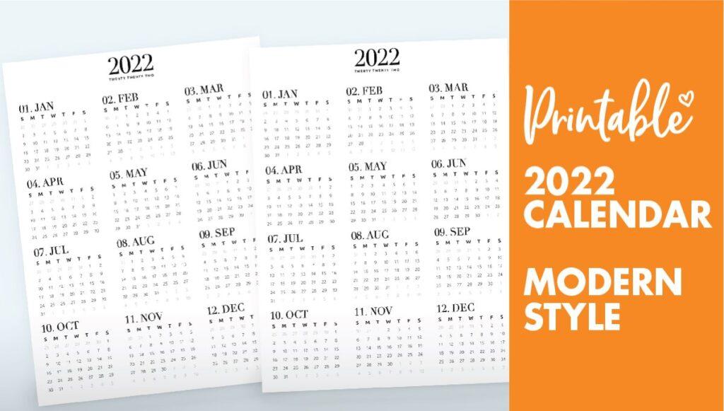 year calendar 2022 - calendar 2022