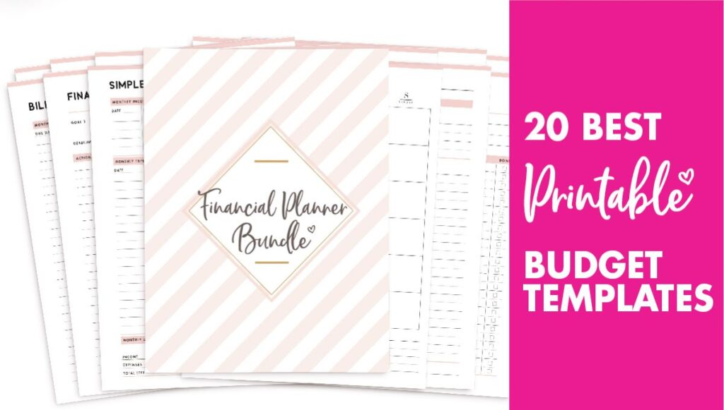 20 best budgeting template printables - free budget templates
