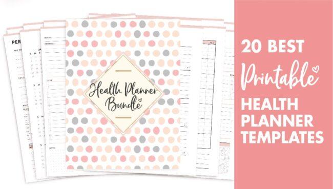 20 best health planner templates