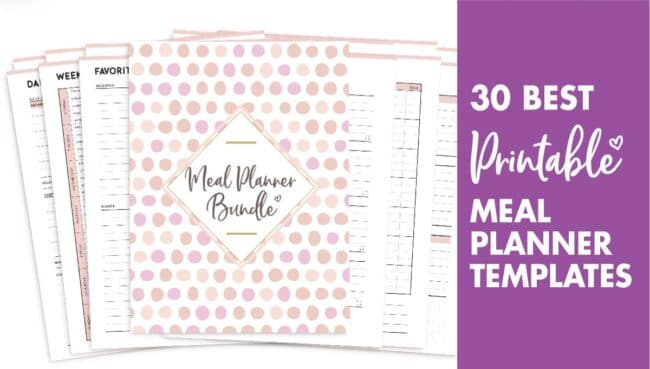 30 best meal planner templates