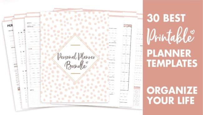 30 best printable planner templates