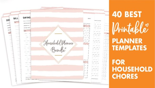 40 best planner templates for household chores
