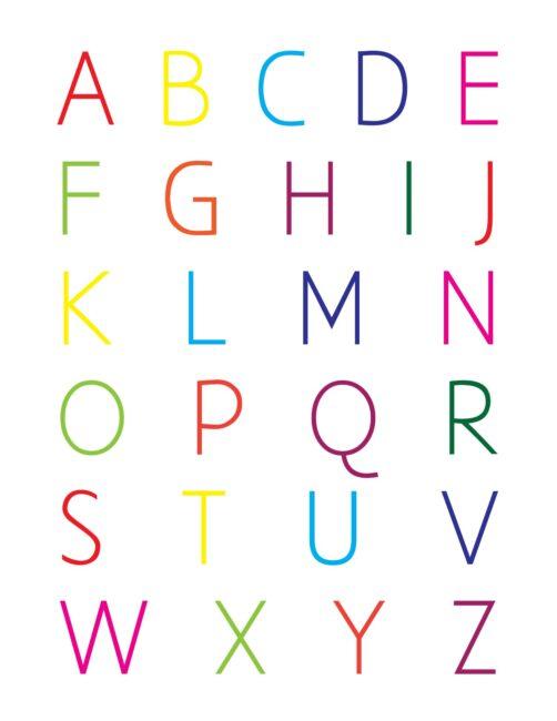 Alphabet In Color - Free Printable Nursery Wall Art Print
