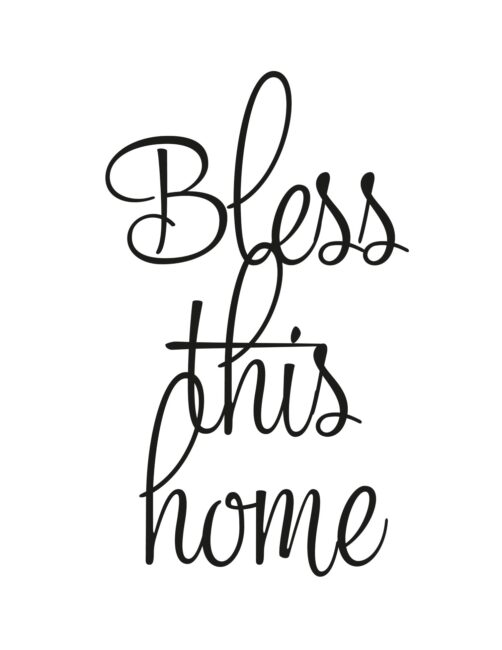 Bless This Home - Free Printable Wall Art Print For Home Decor