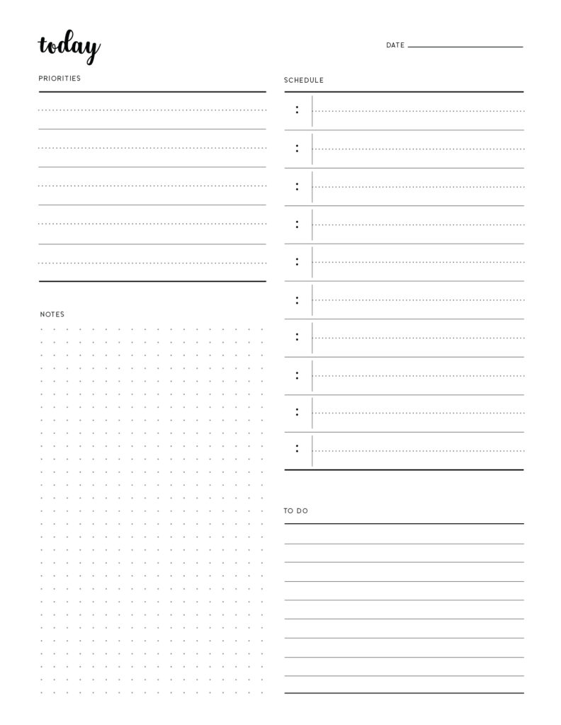 Free Printable Aesthetic To Do List Template