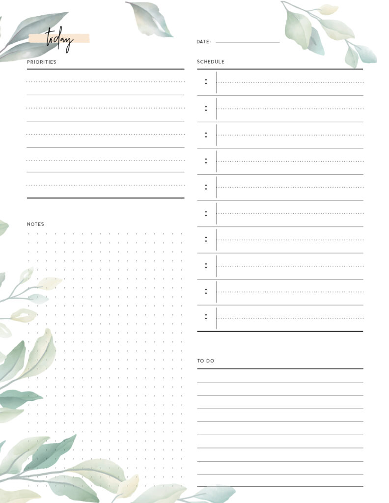 Download Free Printable Daily To Do List Template