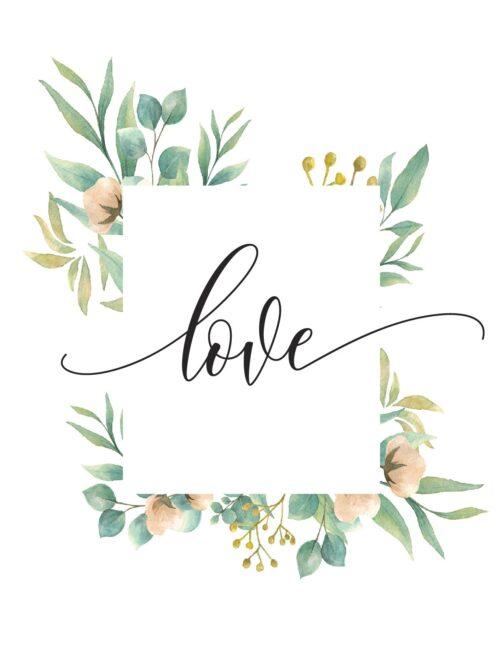 Free Printable Love Quote Wall Art Print
